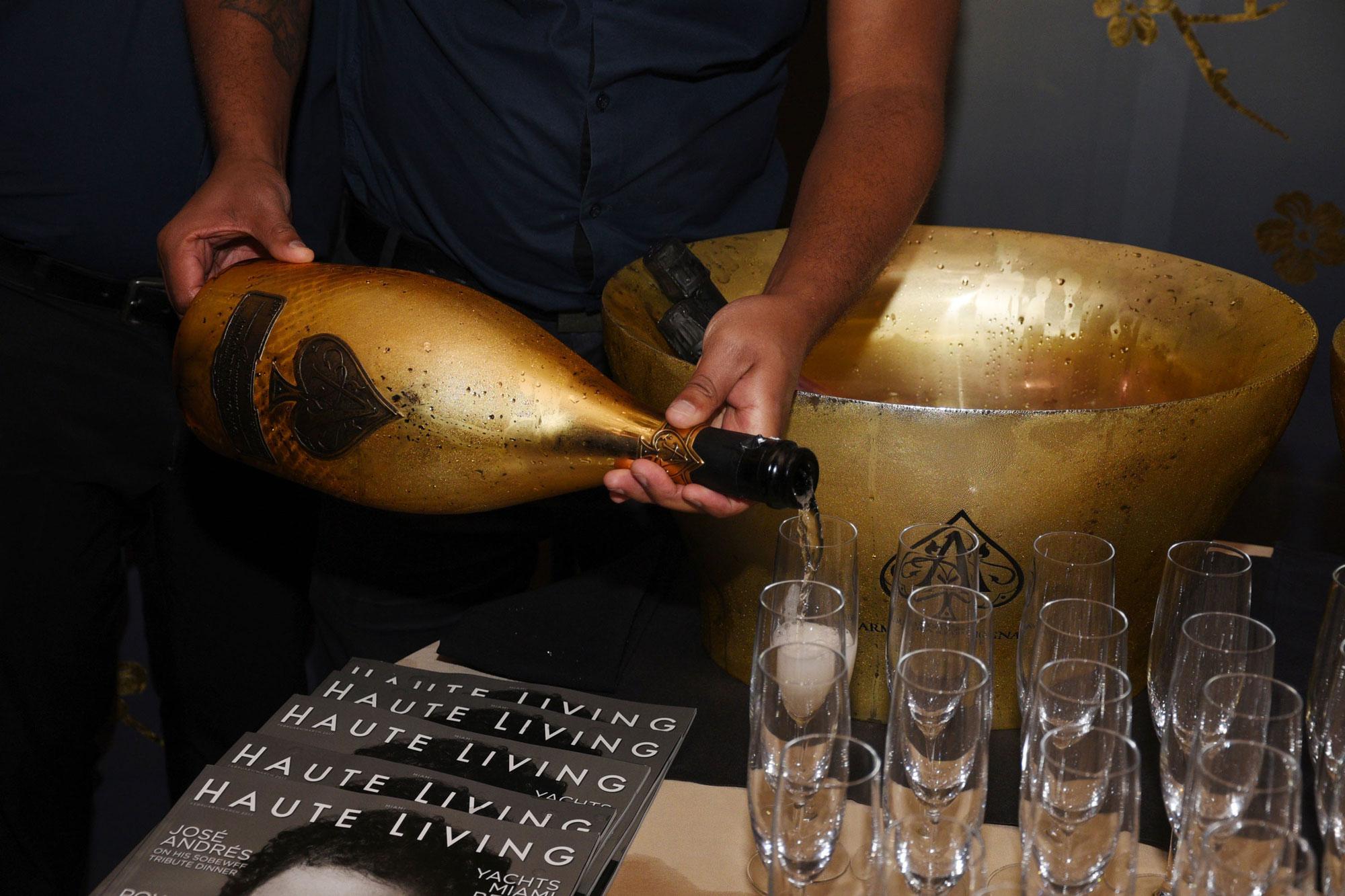 Inside Haute Living's Exclusive Armand de Brignac Dinner in Miami - Armand de Brignac Champagne