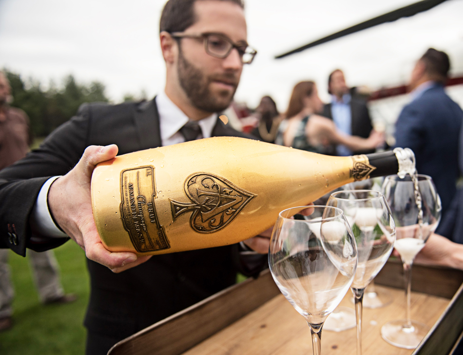 AN INTIMATE DINNER AT BUNKER HILL FARMS - Armand de Brignac Champagne