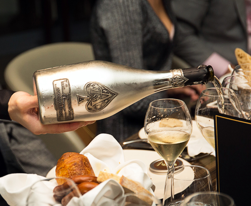 A Toast to Hong Kong's champagne collectors at Seasons by Olivier E. - Armand de Brignac Champagne